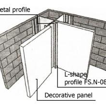 Assembling of L-shape profile FS.N-08