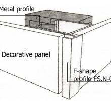 Assembling of F-shape profile FS.N-07