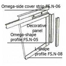 Assembling of omega-side  cover strip FS.N-06