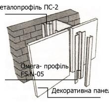 Монтаж омега-профіля FS.N-05